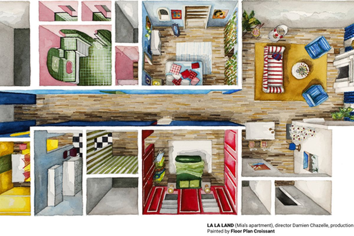 La La Land, Stranger Things get architecture treatment in watercolor ...