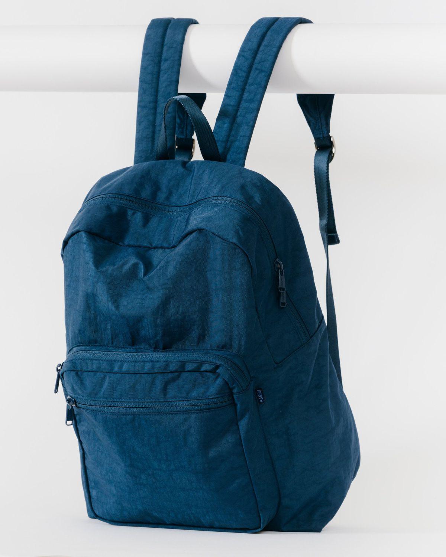 A blue backpack