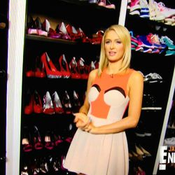 Her shoe closet, filled with nearly untouched footwear from the likes of Charlotte Olympia and Christian Louboutin.