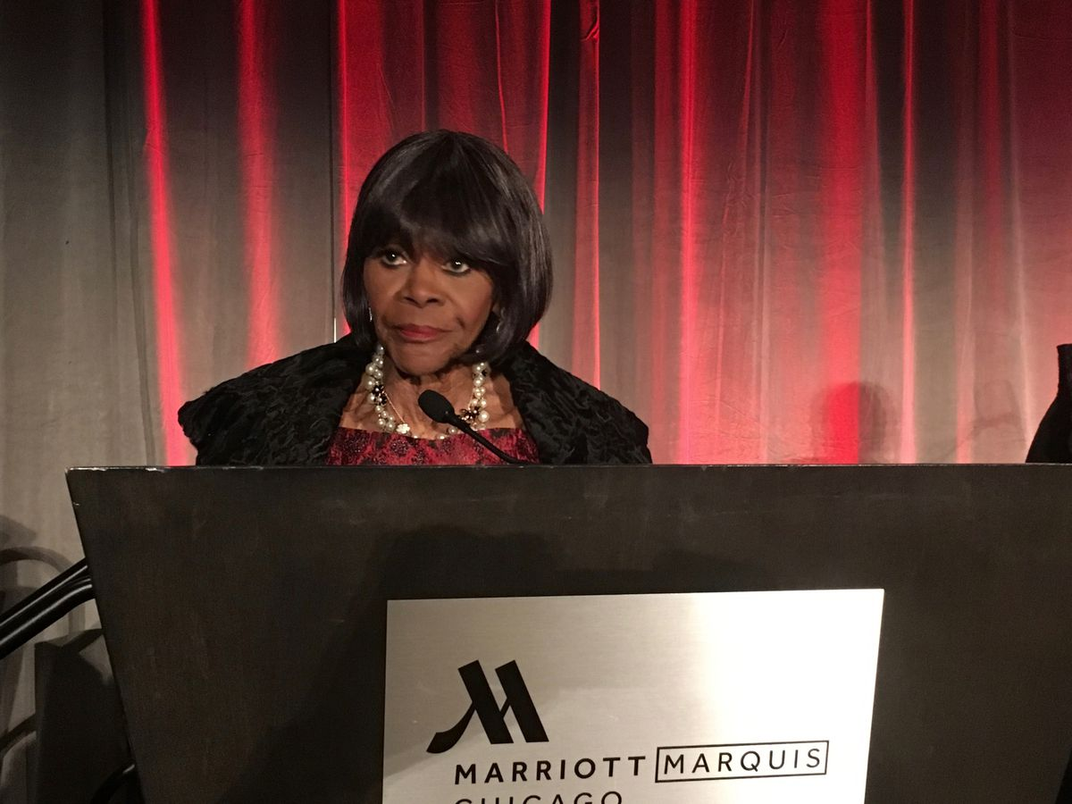 Actress Cicely Tyson was honored for her contribution to Black history and culture by the DuSable Museum of African American History on Oct. 12, 2018 at the Near South Side Marriott Marquis. It was one of her last visits to Chicago.