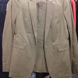 Joseph long blazer, $239 (was $595)