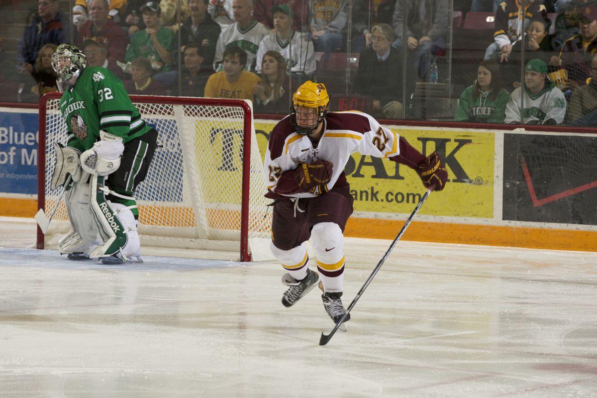 Minnesota's Nick Bjugstad is the WCHA's top NHL prospect