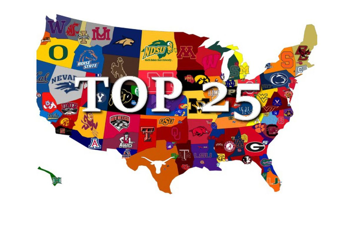 new college football top 25 coaches ap poll and power rankings a