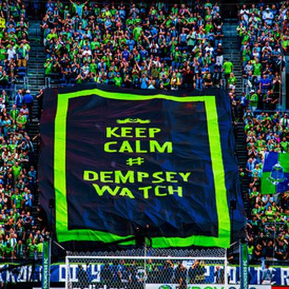 c271c66fe Loyal reader Marcus Annable took this photo of a tifo rapidly assembled on  Friday night to honor Seattle's latest star and the hashtag that become a  global ...