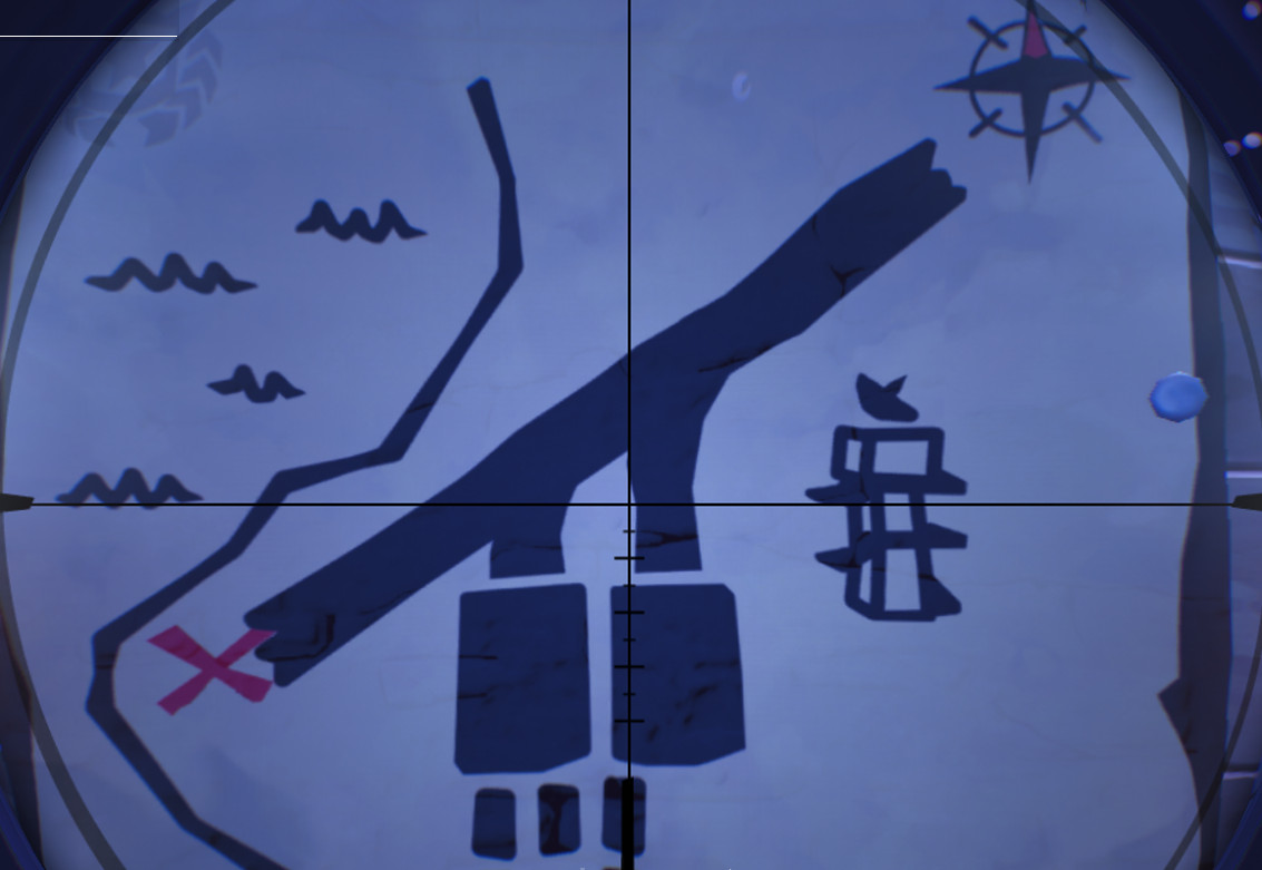 close up of the week 8 fortnite treasure map - search the treasure map signpost found in paradise palms in fortnite battle royale