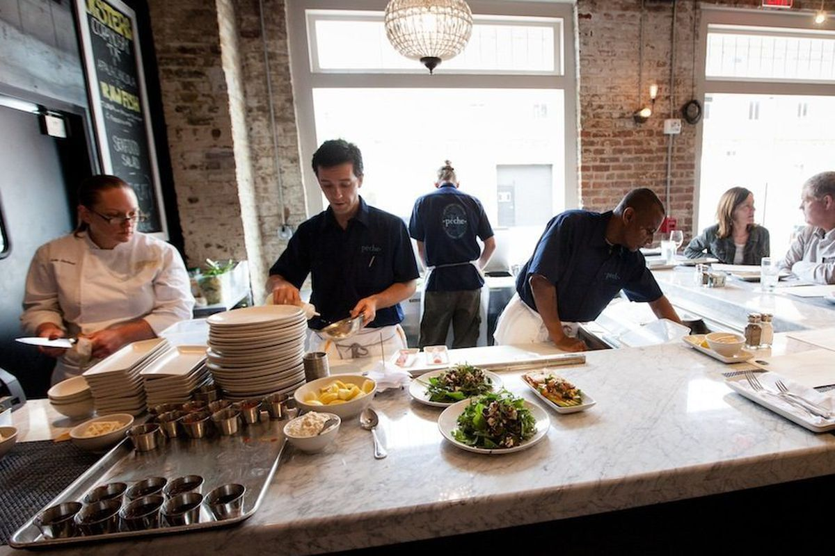 The raw bar at Peche.