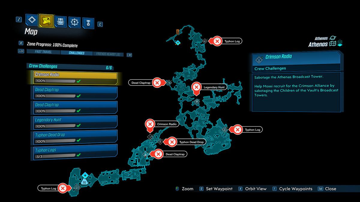 Athenas map Borderlands 3