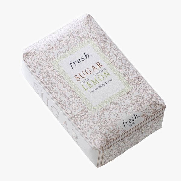 A bar of wrapped soap from Fresh
