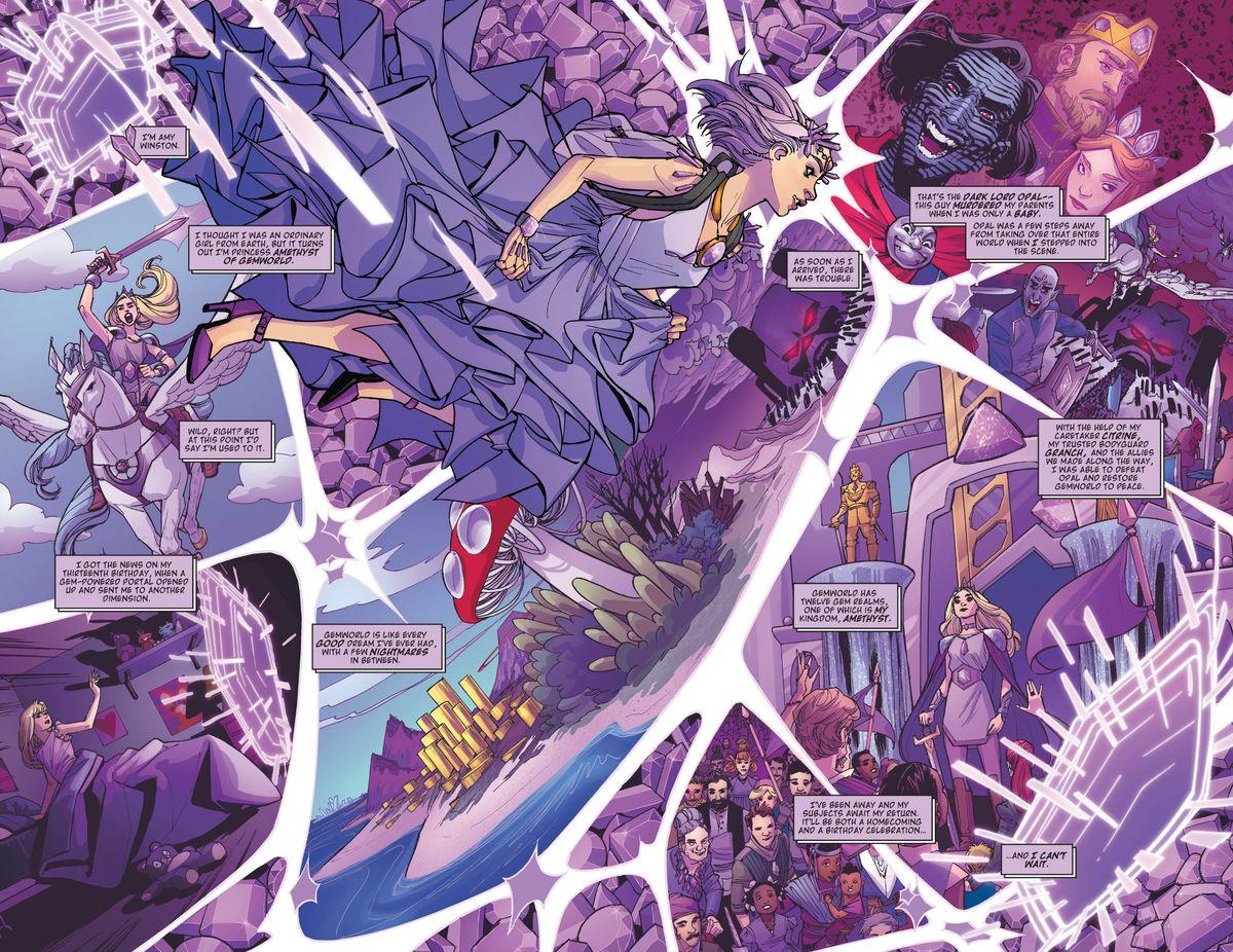 Amethyst #1, DC Comics (2020) reveals Amethyst's backstory