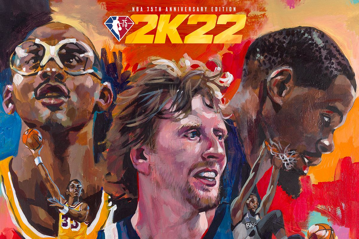 Kareem Abdul-Jabbar, Dirk Nowitzki, and Kevin Duranton the NBA 75th Anniversary Edition.