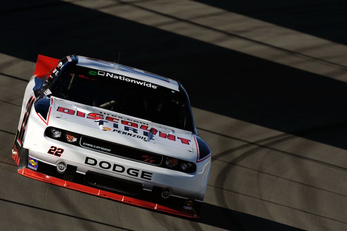 Brad Keselowski finished third in the NASCAR Nationwide Series Sam's Town 300 at Las Vegas Motor Speedway.