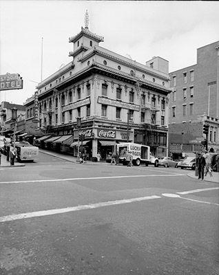 Corner of Grant Avenue and Bush Street, 1951.