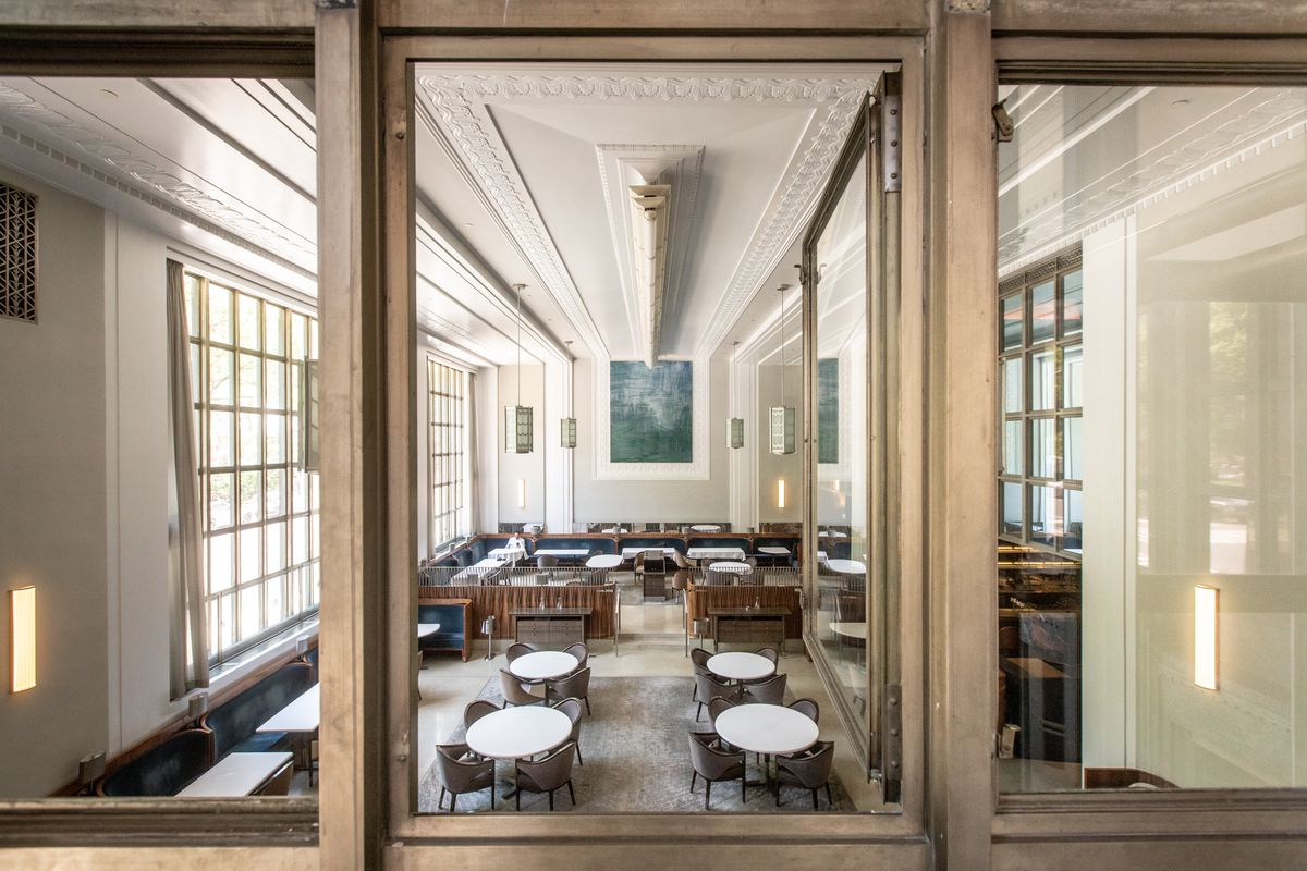 The empty dining room at Eleven Madison Park.
