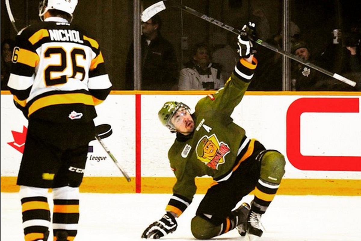 Nick Paul celebrates being traded to the Ottawa Senators