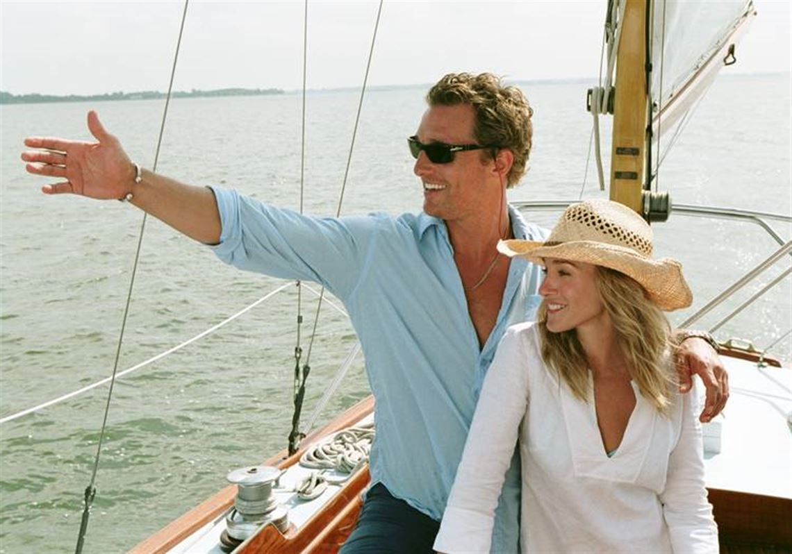 Matthew McConaughey and Sarah Jessica Parker on a boat in Failure to Launch