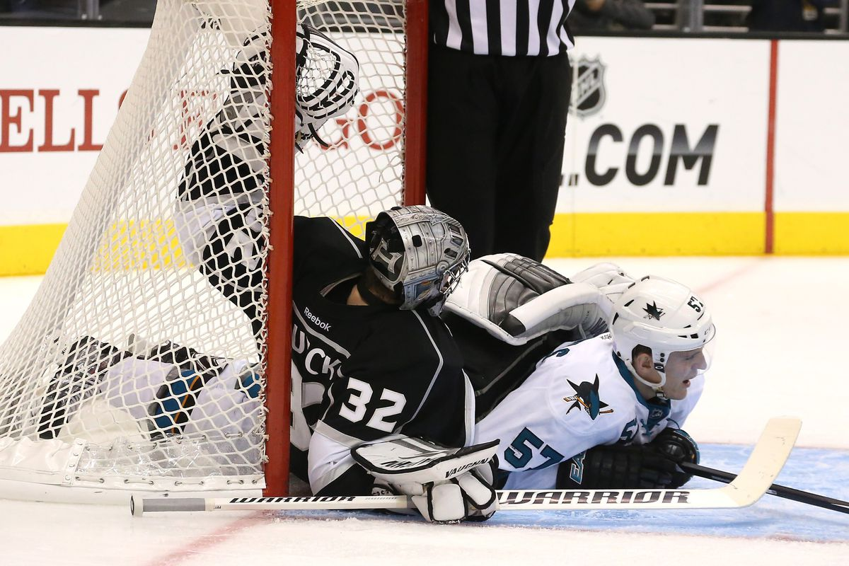 I remember when Jonathan Quick didn't take shit from anybody, but now even Tommy Wingels is having his way