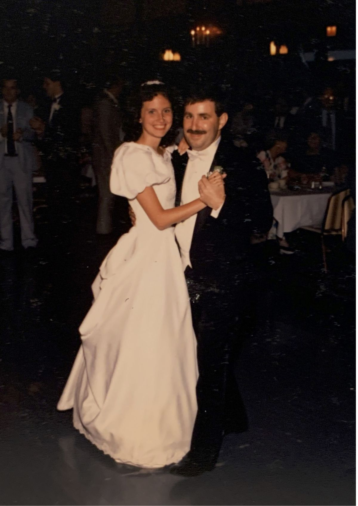Meg and John Rooney at their 1989 wedding.