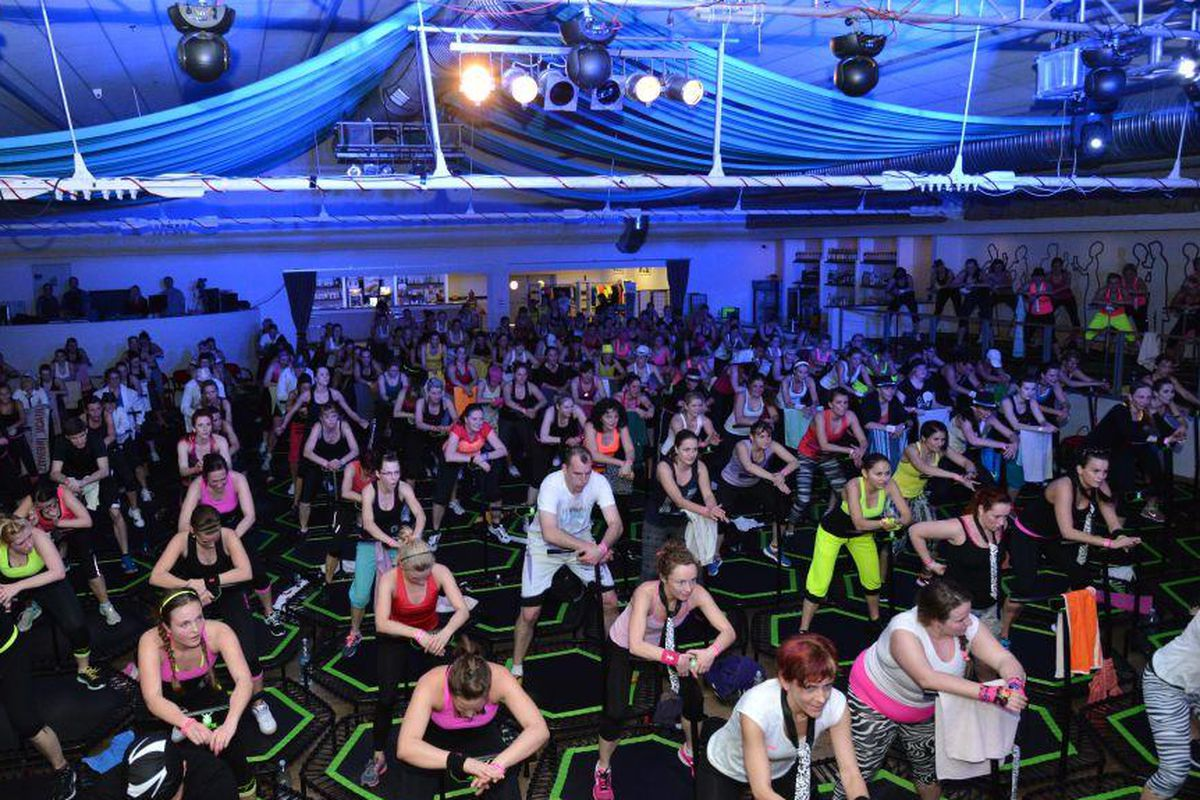 """A scene from the European fitness chain's massive """"party"""" last year."""