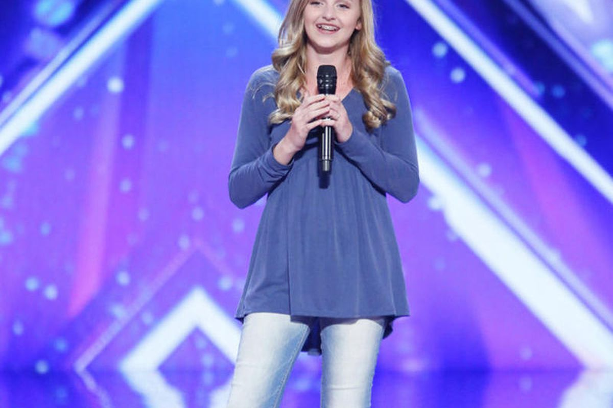 """In her first appearance on """"America's Got Talent,"""" Evie Clair performed Christina Perri's """"Arms."""""""