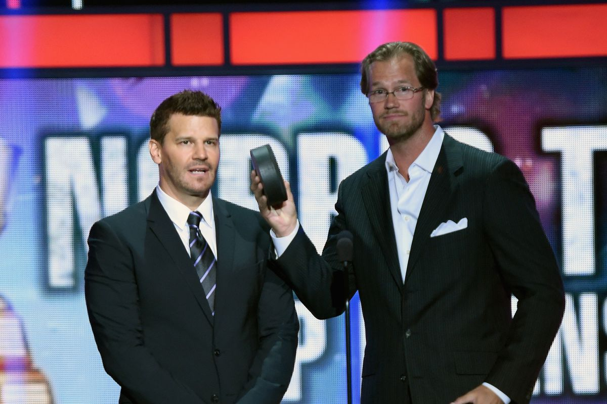Pronger (right) seen here with FBI agent and part time vampire Angel Booth.