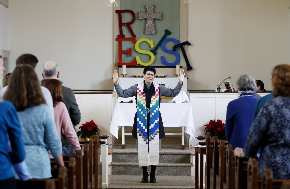 A trans Christian minister came out in a sermon. Now, she's bracing for what comes next.