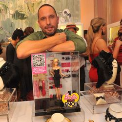 Alexis Bittar with Barbie on FNO.