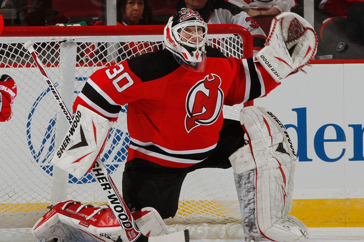 Martin Brodeur had a pretty good March 2011.  Let's review the goals allowed anyway to see what went on in terms of goals allowed. (Photo by Paul Bereswill/Getty Images)