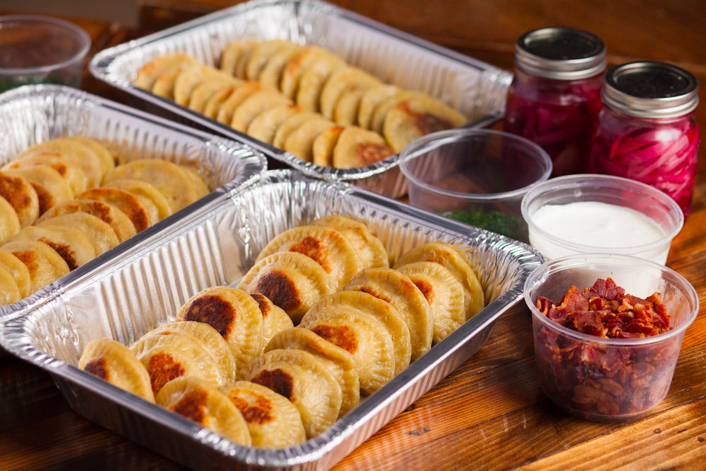 Pierogi from the Spoko pop-up and catering company