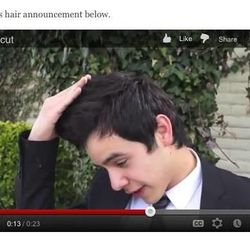 David Archuleta shows how long his hair has gotten before he goes and gets a haircut as part of his mission preparations.