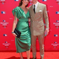 Walker Buehler and girlfriend McKenzie Marcinek at the 2019 MLB Red Carpet Show