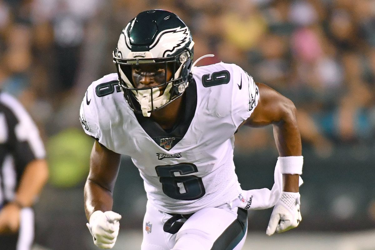 Philadelphia Eagles wide receiver Greg Ward runs a route against the Baltimore Ravens at Lincoln Financial Field.