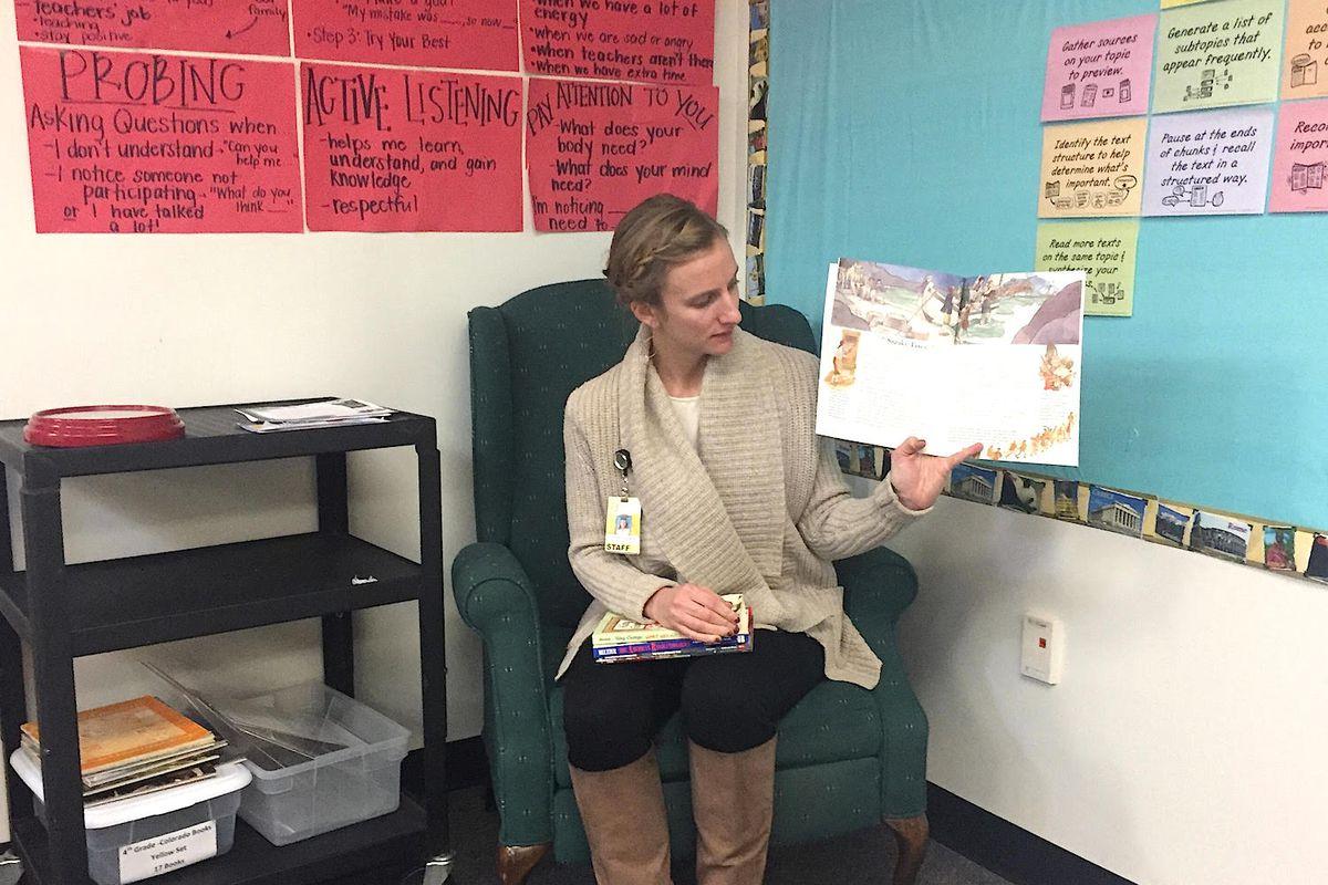 Liz Fitzgerald teaches fourth grade at Sagebrush Elementary School in the Cherry Creek district.