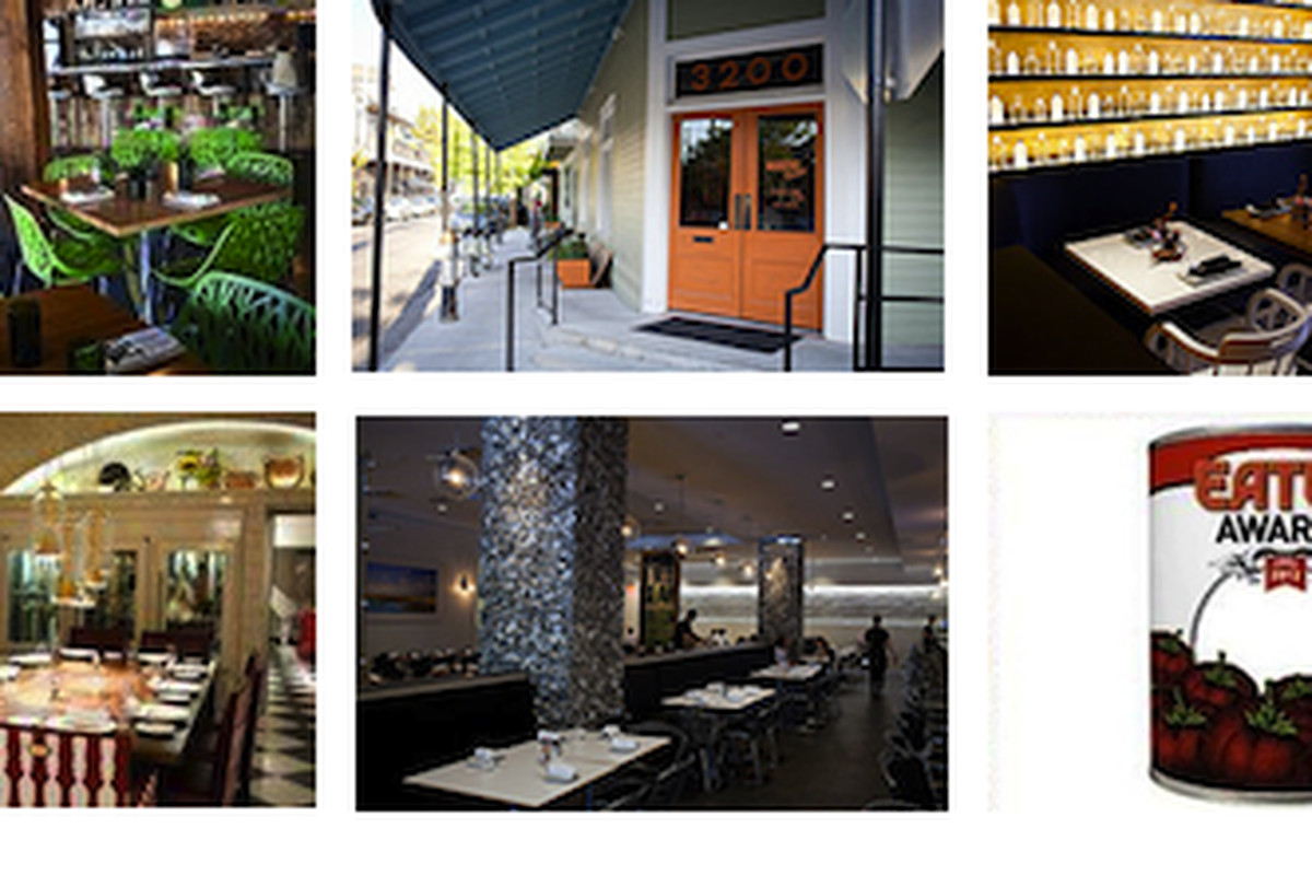 The nominees: Root, Maurepas Foods, SoBou, Restaurant R'evolution, and Borgne.