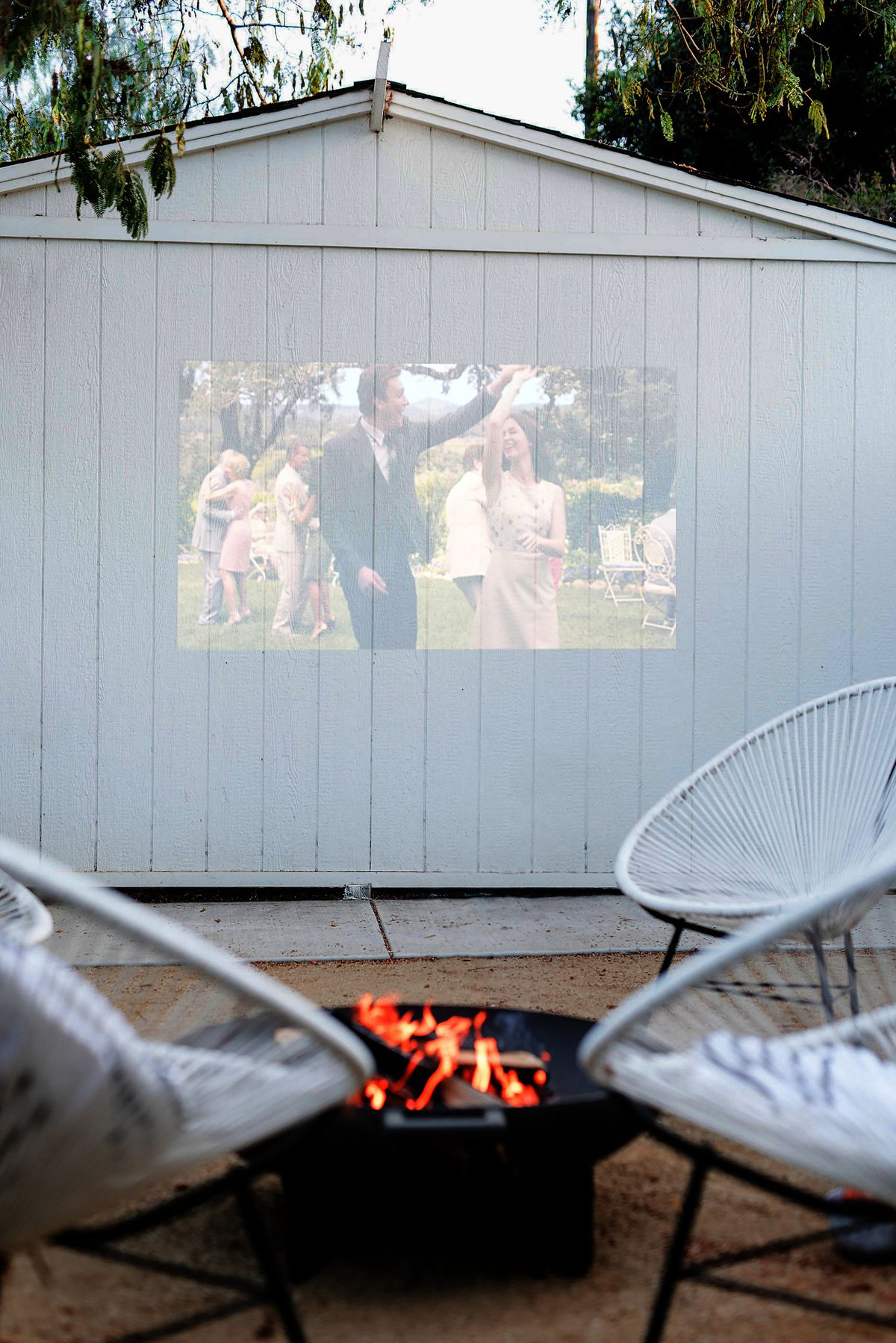 Summer 2021 Outdoor Rooms, Almost Makes Perfect, outdoor projector
