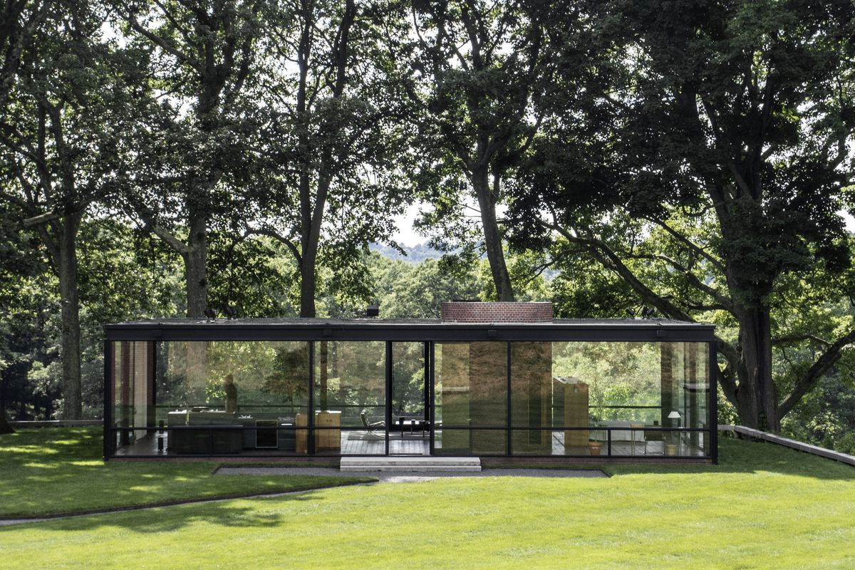 philip johnson s glass house replaces its ceiling curbed. Black Bedroom Furniture Sets. Home Design Ideas