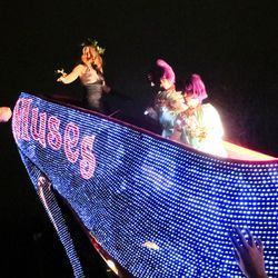 Signature float from the Krewe of Muses.