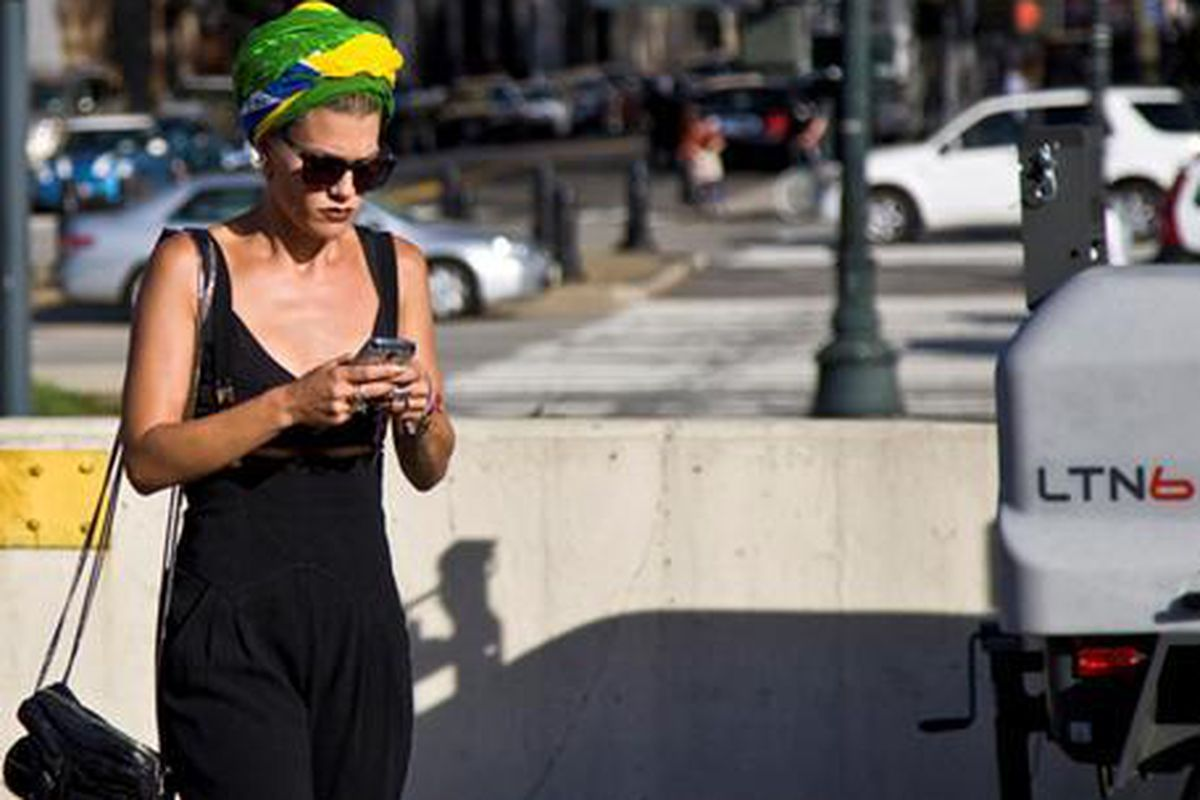 """Photo via <a href=""""http://www.anothermag.com/reader/view/2076/Jenne_Lombardo_in_a_Brazil_Flag_Turban_NYC%22"""">Another Magazine</a>"""