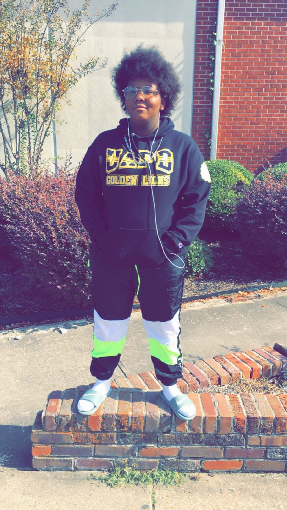 Vanessa Bynum, a 19-year-old freshman on campus at the University of Arkansas in Pine Bluff.