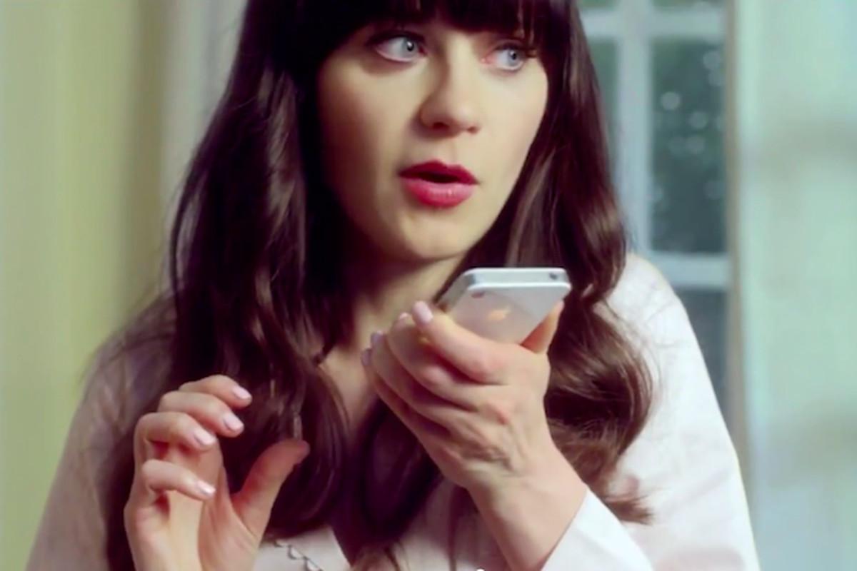 zooey deschanel iphone