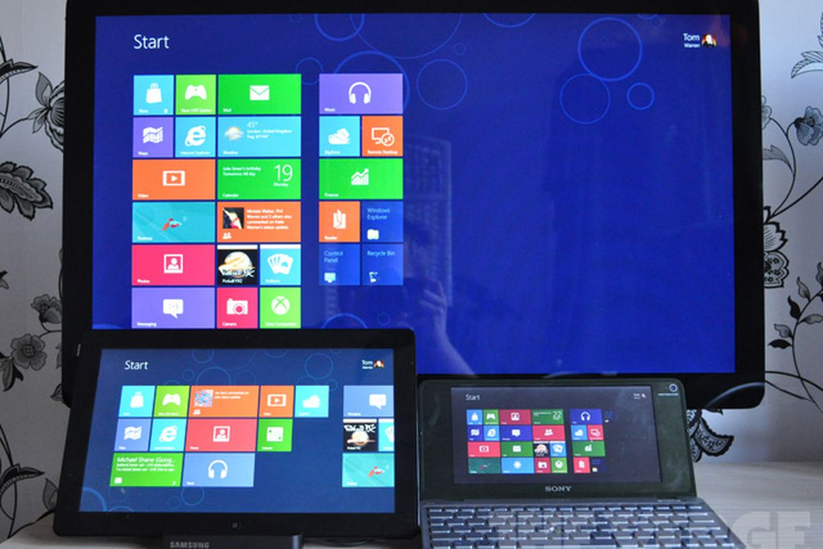 Windows 8 displays stock