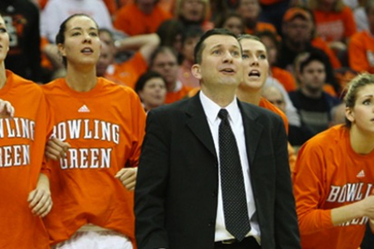 """With five MAC Tournament titles in seven seasons, Curt Miller is starting to get more national attention. (photo via <a href=""""http://www.bgsufalcons.com/news/2009/9/29/WBB_0929091027.aspx"""" target=""""new"""">bgsufalcons.com</a>)"""