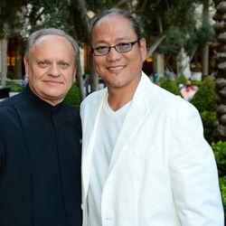 Joel Robuchon and Masaharu Morimoto. Photo: Ethan Miller/Getty Images