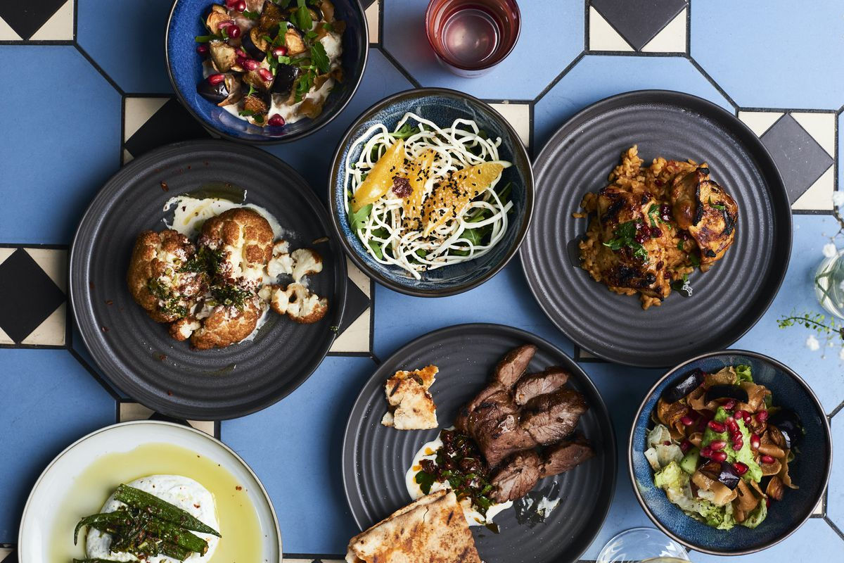 A spread of Syrian dishes at Imad's Syrian Kitchen, due to open in Soho on 18 December 2020