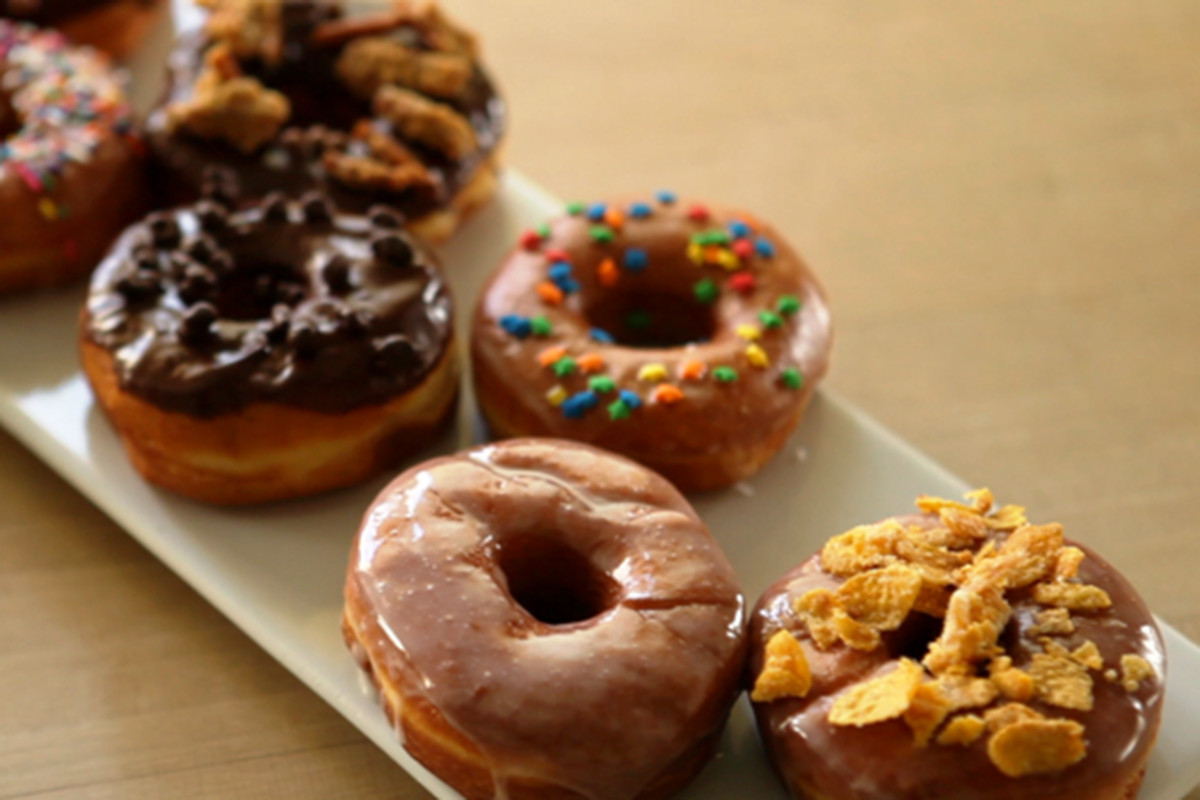 This photo of Hugs & Donuts doughy treats will have to hold you over for now.