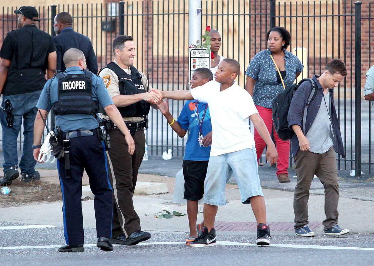 Ferguson police-community relations