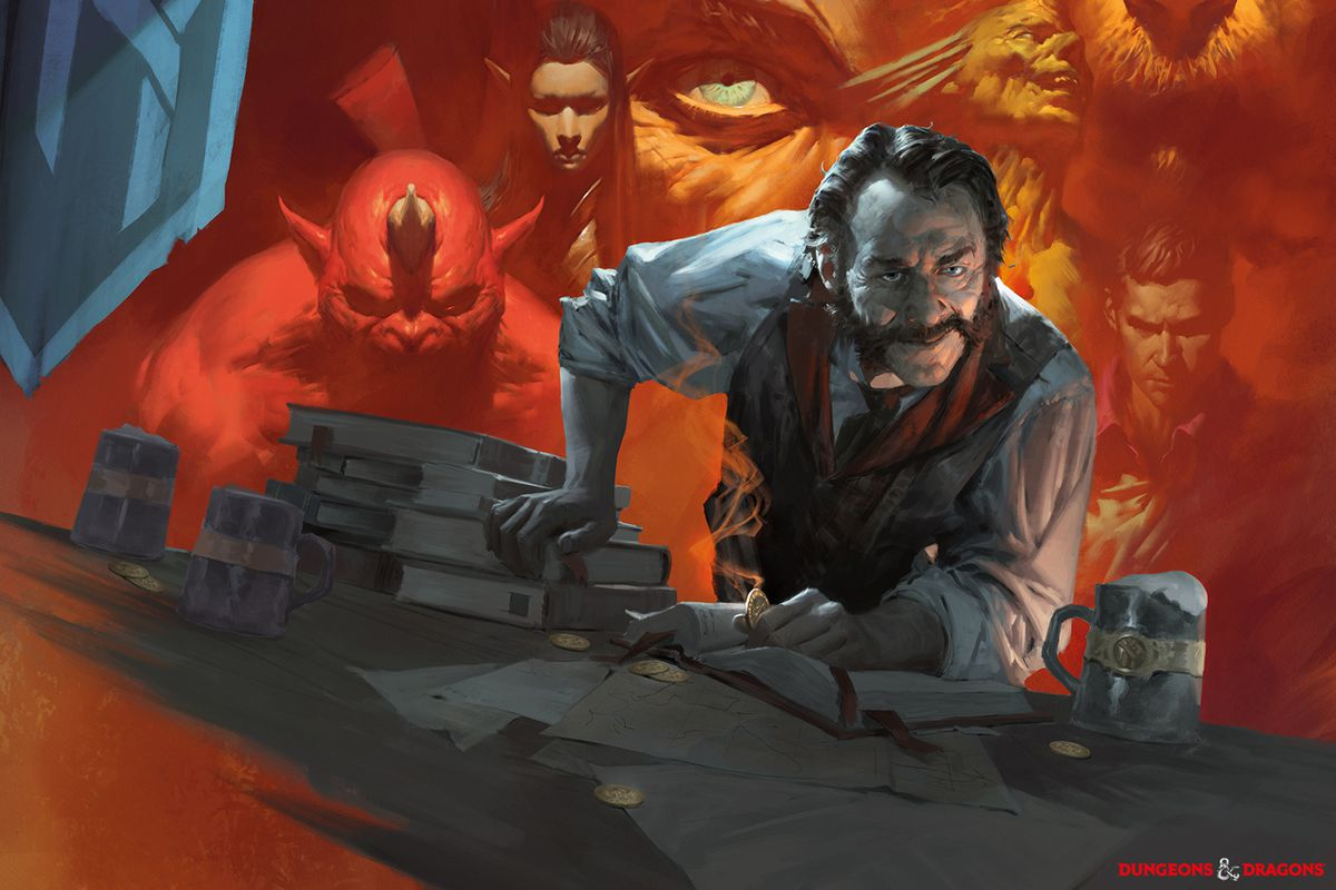 Key art for Tales from the Yawning Portal, a campaign book for Dungeons & Dragons' 5th edition.