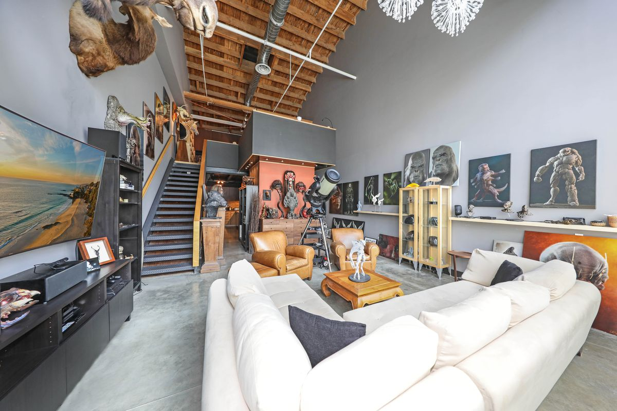quirky arts district condo with 26 foot ceilings asks On living room with 9 foot ceilings