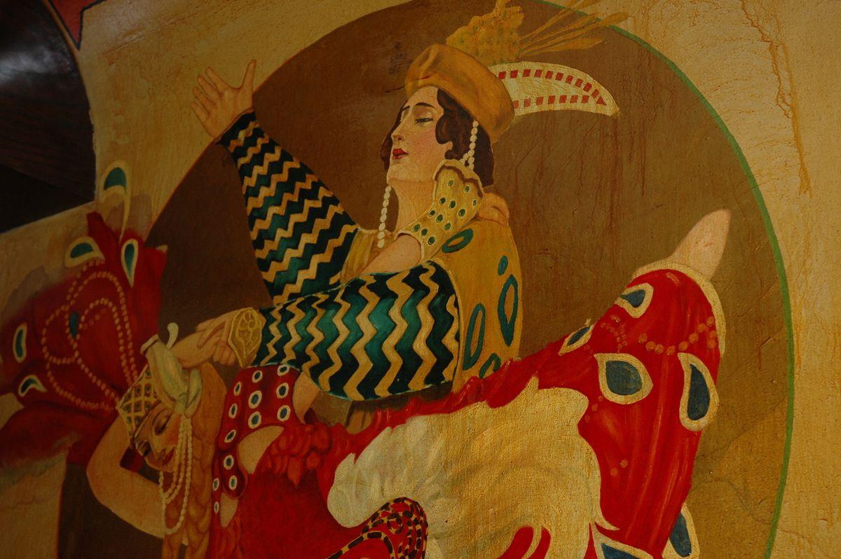 Part of a mural inside Klas Restaurant, 5734 Cermak Rd., Cicero.