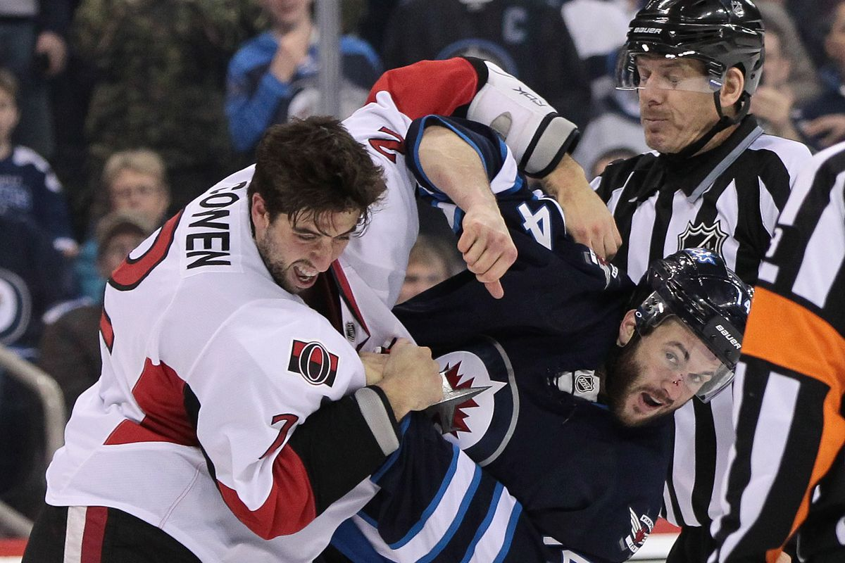 Jared Cowen tries to give Anthony Peluso a wet willie