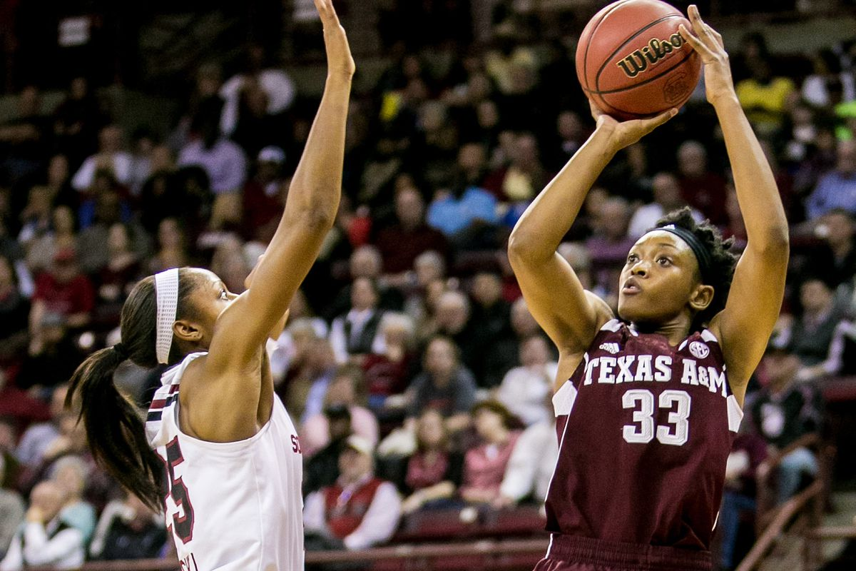 Courtney Walker led the Ags with a double double.